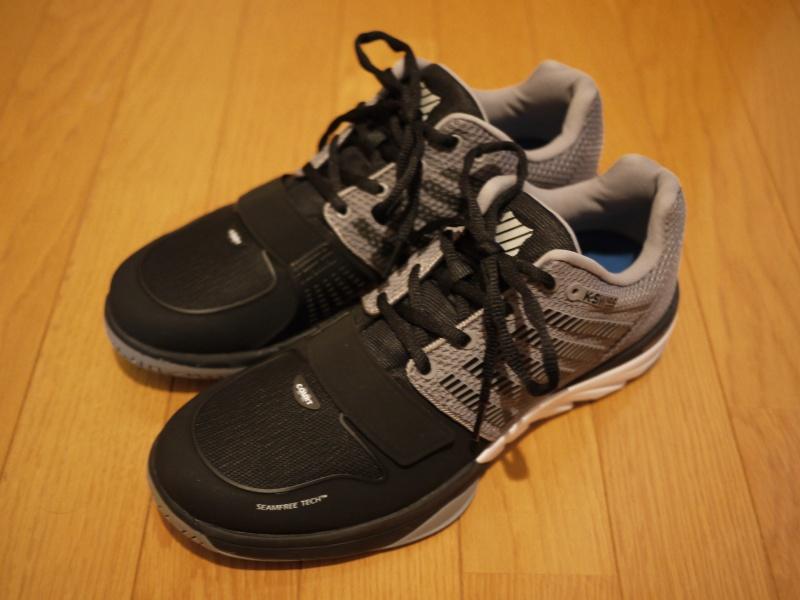 K-Swiss X Court Shoes Black/Grey   Mega