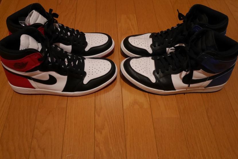 "e26b8248326 Fragment Design × Nike Air Jordan 1 vs. Nike Air Jordan 1 Retro High OG ""Black  Toe"" Comparison | SADAOMIX 17-33 BLOG"